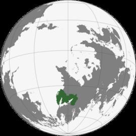 Localização Império de Óguien