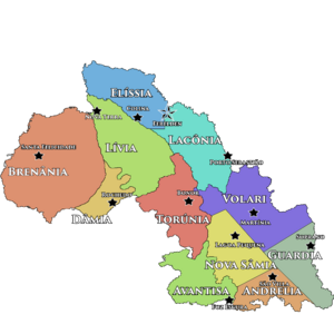 Mapa República Federal da Alchoria